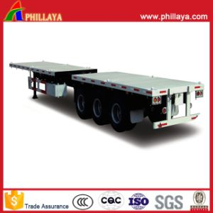 China 20FT 40FT Container Transport Flatbed Truck Semi Trailer pictures & photos