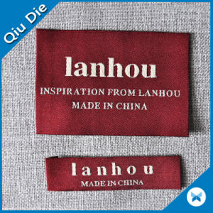 Customized Brand Woven Fabric Name Label for Luggage/Scarf pictures & photos