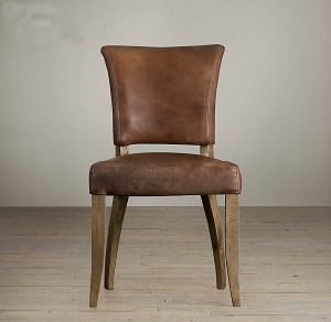 Wooden Chair with Genuine Leather (M-X1050) pictures & photos