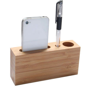 Multi-Function Bamboo Desktop Stationery Holder for Office (EB-61975) pictures & photos