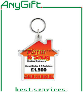 Acrylic Keyring with Compass with Customized Logo pictures & photos
