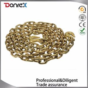 High Tensile Yellow Galvanized Chain with Grab Hook pictures & photos