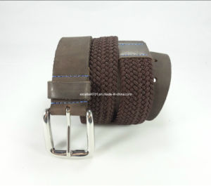 Newly-Designed Elastic Woven Leather Belt pictures & photos