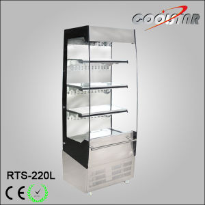 Open Refrigerated Display Cabinet with 2 Sides Safety Glass (RTS-220L) pictures & photos