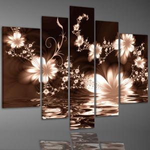 Abstract Canvas Wall Art china 5 panels abstract flower painting on canvas wall art - china