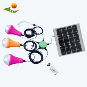 Solar Cell Mono 20W Solar Home Kit with 5W Bulb pictures & photos