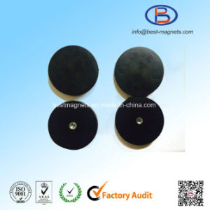 Direct Factory of D31mm Rubber Coated/Coating/Covering Neodymium Magnet Pot/Gripper pictures & photos
