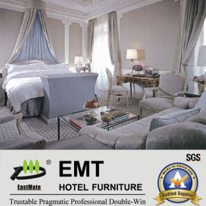 Guangdong White Perfect Luxury Hotel Bedroom Furniture Sets (EMT-SKB13) pictures & photos