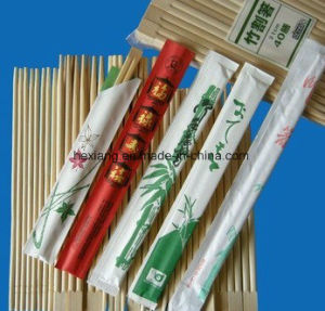 China New Full Paper Cover of Bamboo Chopstick pictures & photos
