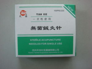 0.30x25 Mm Tianxie Brand Acupuncture Needle Without Tube pictures & photos