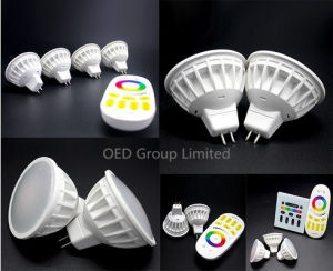 2.4G 4W Lighting Bulb MR16 WiFi Smart LED Spotlight RGBW LED Dimmable Lamps with 2 Years Warranty pictures & photos