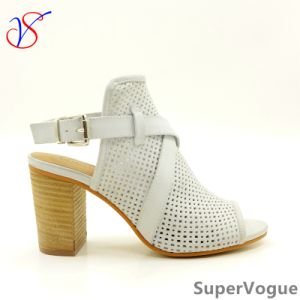 Two Color Sex Fashion High Heeled Women Lady Sandals Shoes for Socially Business Sv17s001-03-Tan pictures & photos