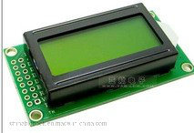 Stn 8*2 Character LCD Display Module with Yellow Green Screen pictures & photos