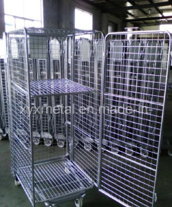 Movable Heavy Duty Foldable Wire Mesh Trolley pictures & photos