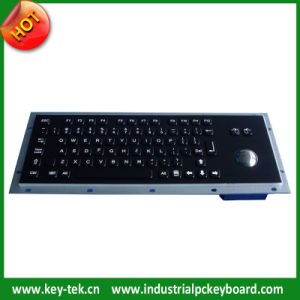 Industrial Black Titanium Keyboard with Trackball and Function Keys