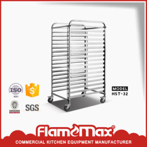 Stainless Steel 32-Pan Trolley for Oven (HST-32) pictures & photos
