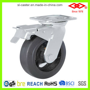 100mm Black Rubber Swivel Locking Castor (P701-42D100X50S) pictures & photos