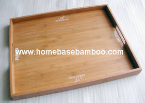 Nice Bamboo Tea Food Coffee Fruit Serving Tray Tableware Storage Organizer Hb412 pictures & photos