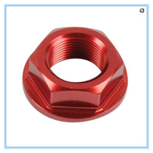 M8 Red Zinc Flange Nuts Made of Aluminum Materials pictures & photos