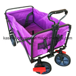 Portable Multifunctional Collapsible Beach Wagon Cart with Double Layer 600d Waterproof Faric pictures & photos