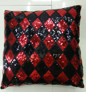 Sequin Embroidery Cushion Fashion Decorative Pillow (XPL-19) pictures & photos