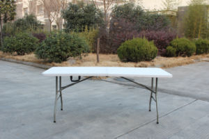 6ft Rectangle Fold in Half Table/Leisure Table/Banquet Table (HP-180CZ)