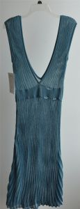 Long Sleeveless Opean Striped Knit Cardigan for Ladies pictures & photos