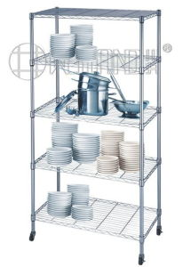 Adjustable Chrome Metal Wire Kitchen Shelf Rack with NSF Approval pictures & photos
