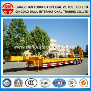 SGS ISO CCC Approved Gooseneck Low Bed/Lowboy Semi Trailer