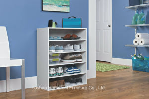 White Wooden Stack-Able 5-Shelf Shoe Cabinet (HHSR06) pictures & photos