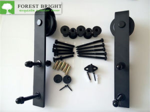 Black Powder Coated Sliding Barn Door Hardware, Sliding Door Track pictures & photos