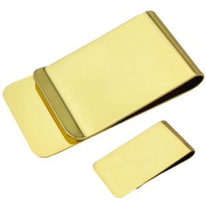 Stainless Steel Golden Money Clip (JJ-SS-MC02-02(golden)