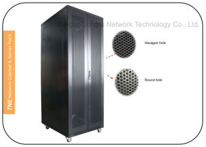 800width Server Racks with Double Mesh (Perforated) Doors pictures & photos