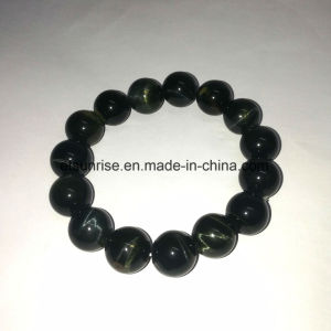 Semi Precious Stone Blue Tiger Eye Beaded Bracelet pictures & photos