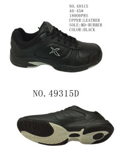 No. 49315 Black Color Men Size Sport Stock Shoes pictures & photos