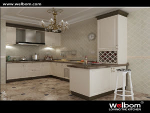 2015 Welbom White Solid Wood Modular Kitchen Cabinet pictures & photos