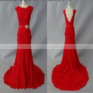 Mermaid Red Venice Lace Wedding Dress