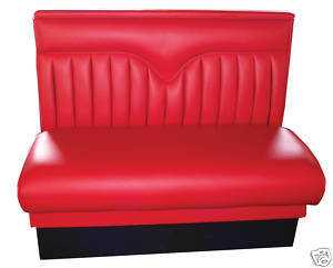 Customized Single Side Red Restaurant Booth Seating for Cafe/Restaurant (9052) pictures & photos