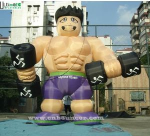 Custom Shape Advertising Inflatable Muscle Man