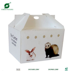 Glossy White Corrugated Pets Carrier with Handle pictures & photos