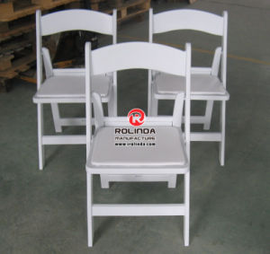 White Resin Folding Chair for Events pictures & photos