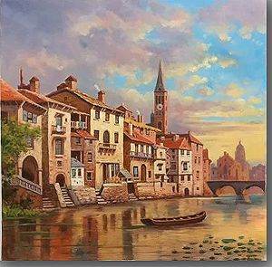 Water Land in Oil Painting pictures & photos