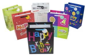 Happy Birthday Promotional Gift Bags with Hot Stamping Paper Gift Bag for Party Customized Gift Paper Bag pictures & photos