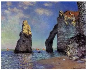 Famous Artists Oil Painting, Art Painting, Masterpiece Oil Painting, Rock Arch West of Etretat (1885 years) -Claude Monet pictures & photos