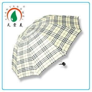 2014 High Quality Fashion Checked Umbrella for Men