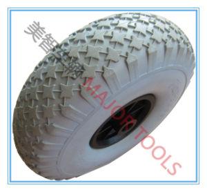11X4.00-4 Grey PU Foam Solid Round Wheel pictures & photos