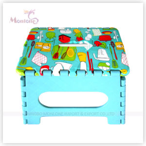Plastic Foldable Stool with Sublimation Printing Logo pictures & photos