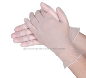 Good Price Clear Color Powder Free Vinyl Gloves pictures & photos