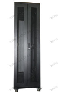 "19"" Rack Cabinet with Arc Perforated Door pictures & photos"