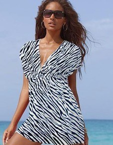 Swimwear, Fashion Bikini, Sexy Bikini2012 Newest Fashion Beach Dress with Zebra Printing (BD-12011)